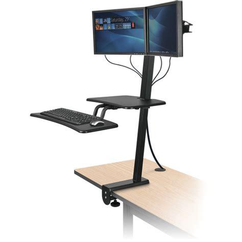 Balt Computer Desk Balt Up Rite Desk Mounted Sit And Stand Workstation 90531 B H