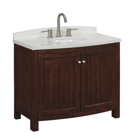 shop allen roth moravia sable undermount single sink bathroom vanity  engineered stone top
