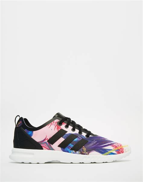 black pattern zx flux adidas zx flux bird print