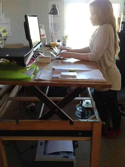 stand and sit desk adjustable sit stand desk 9 ways to build guide patterns