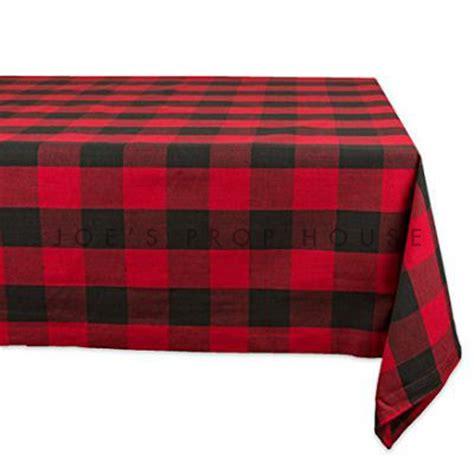 buffalo plaid table cover joe s prop house