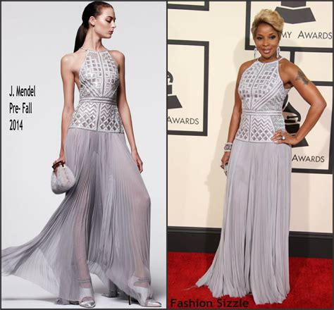 mary j blige hairstyle at the grammys mary j blige in j mendel at the 2015 grammy awards