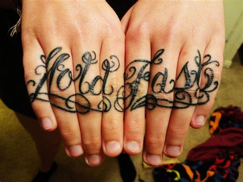 hold fast tattoo 21 bad knuckle tattoos me now