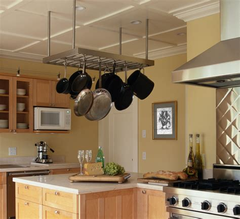 Kitchen Pots And Pans Hanging Rack With Lights Rack For Hanging Pots And Pans Clean Sturdy