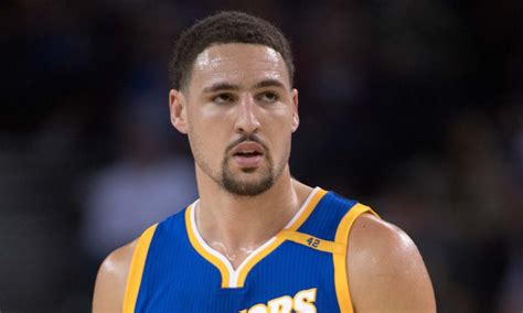 klay thompson klay thompson pauses to take refreshing swig of for the win