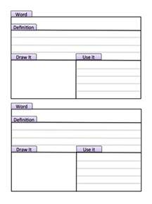 Vocabulary Card Template Tabbed Index Study Cards Make This Page Into A