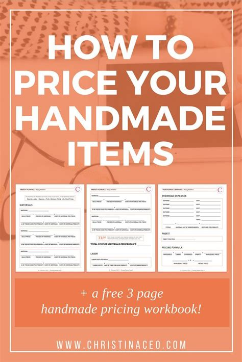 How To Sell Handcrafted Items - how to price your handmade items handmade items free
