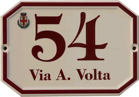 ufficio toponomastica la targa numerazione civica numeri civici