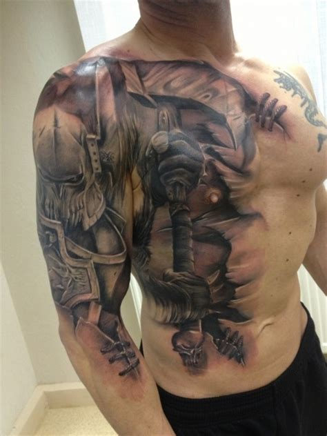knight tattoo awesome battle interesting running it from