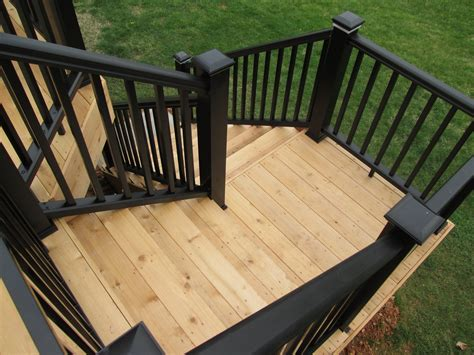 Deck Stairs Design Ideas Deck Stairs With Landings St Louis Decks Screened Porches Pergolas By Archadeck