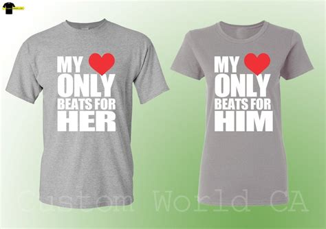 Relationship Shirts For Him And Matching Shirts His Hers My Beats For