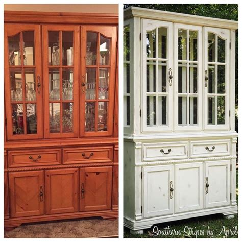 Refinished Cabinets Before Amp After China Cabinet Transformation With Annie