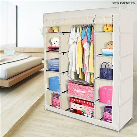 Cloth Storage Wardrobe by Beige 5 Level Non Woven Cloth Storage Wardrobe Sales