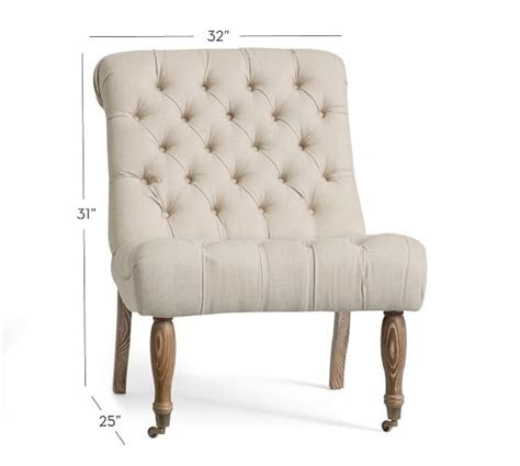 Tufted Chairs For Sale Design Ideas Carolyn Tufted Slipper Chair Pottery Barn