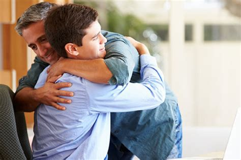 dad encourages son to be a man while getting shots british dads stop hugging their kids at ten