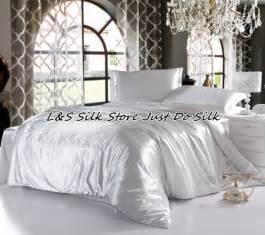 linge de lit 260x240 fast free shipping 4pcs luxurious silk bedding sets color