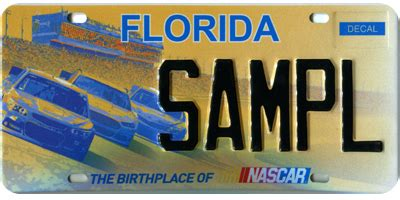 Florida Dmv Vanity Plates by Specialty License Plate Nascar