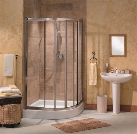 Bathroom Corner Shower Corner Shower Units For Small Bathroom Solving Space Issues Homesfeed