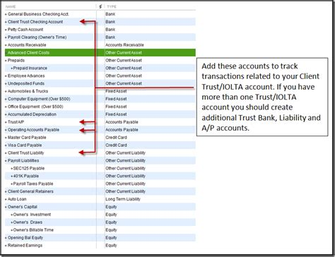 quickbooks for law firms setup accountex report