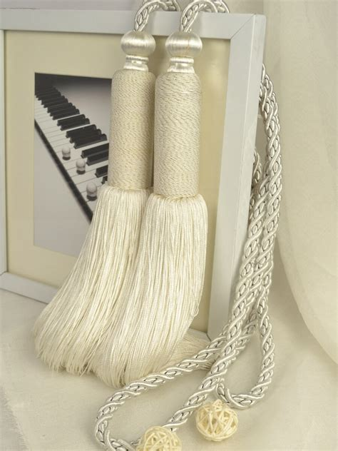 tassels for curtains 5 colors qym08 faux silk curtain tassel tiebacks pair