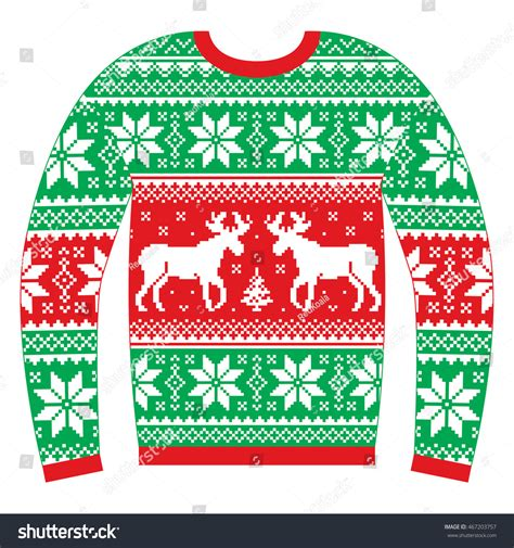 snowflake pattern christmas jumper ugly christmas jumper or sweater with reindeer and