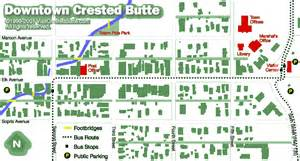 Crested Butte Colorado Map by Crested Butte Maps