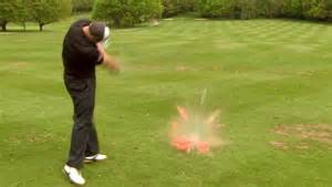 joe miller golf swing long drive chion joe miller destroys a watermelon and