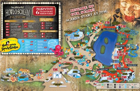 seaworld texas map howl o scream park map howl o scream at seaworld san antonio