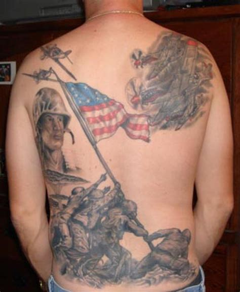 american flag back tattoos american flag tattoos the finest american patriotism