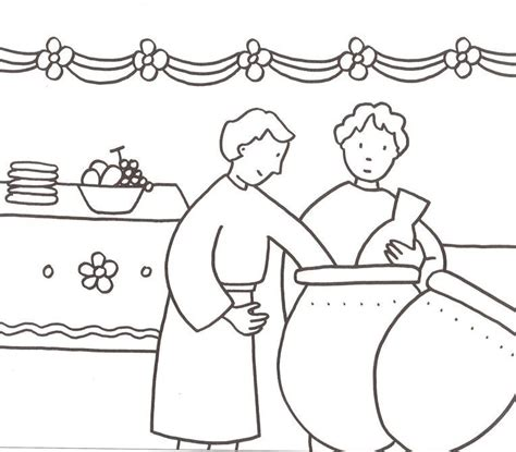 Wedding At Cana Coloring Sheet by Marriage At Cana Coloring Page Wedding At Cana