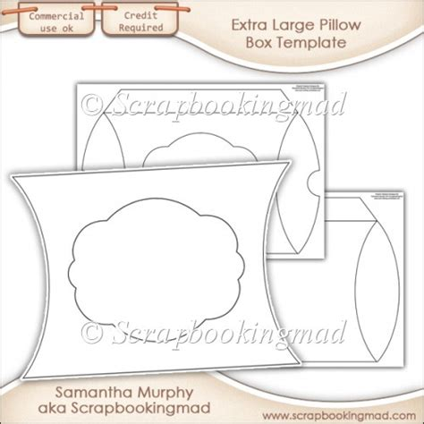extra large pillow box template commercial use 163 3 50