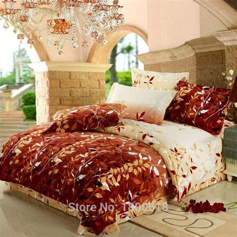 bedding stores online 2015 4pcs comfort set late autumn leaf bedding sets cheap