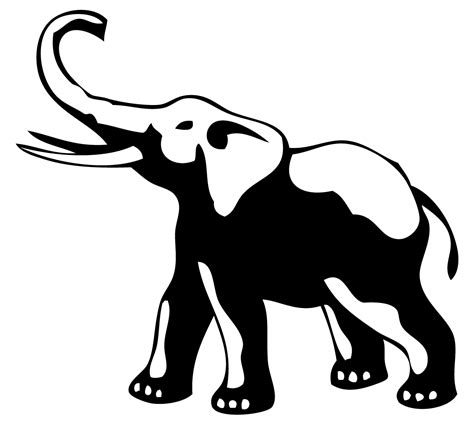 elephant tattoo clipart simple elephant outline cliparts co