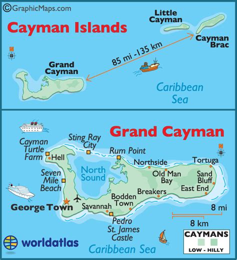 printable map grand cayman island large cayman islands map by world atlas