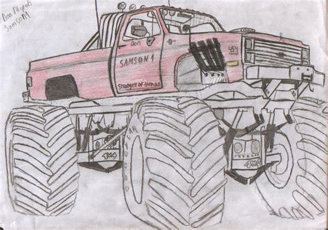 monster trucks drawings how to draw great monster trucks