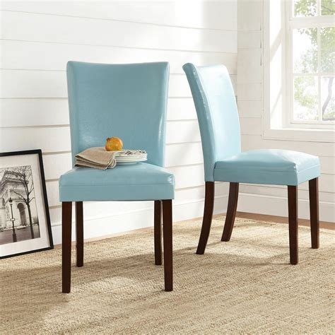 tribecca home estonia sky blue upholstered dining chairs set   accent decor ebay