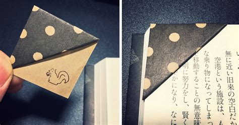 Make Paper Bookmarks - simple trick to make your own origami bookmarks bored panda