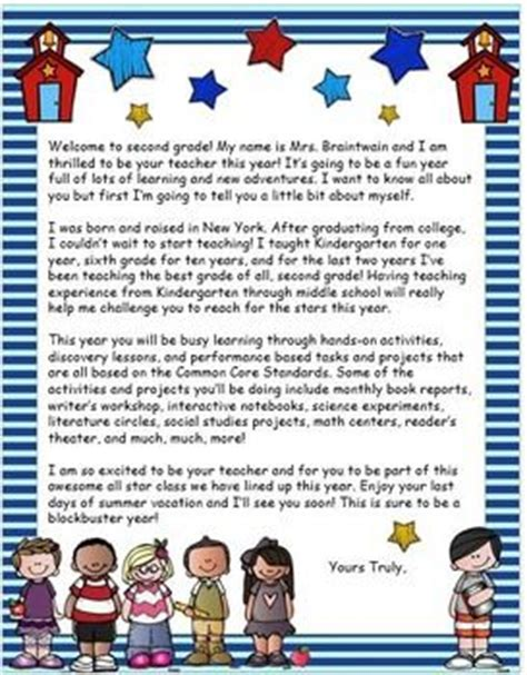 Parent Welcome Letter 5th Grade 17 Best Ideas About Letter To Students On End Of Student Gifts And