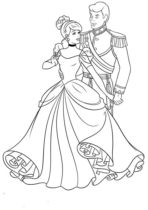 free pictures to color cinderella coloring pages to and print for free