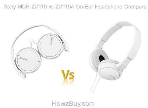 Sony Headphone Mdr Zx110a sony mdr zx110 vs zx110a on ear headphone compare