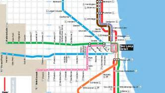 Chicago El Map Blue Line cta blue line train fatally strikes man at division