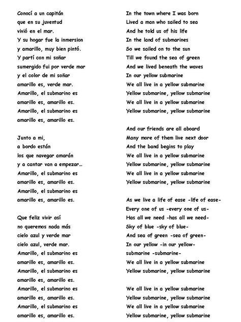 testo yesterday beatles yellow submarine the beatles poems poemas prose