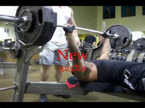 345 bench press 325 bench press for reps part 4 youtube