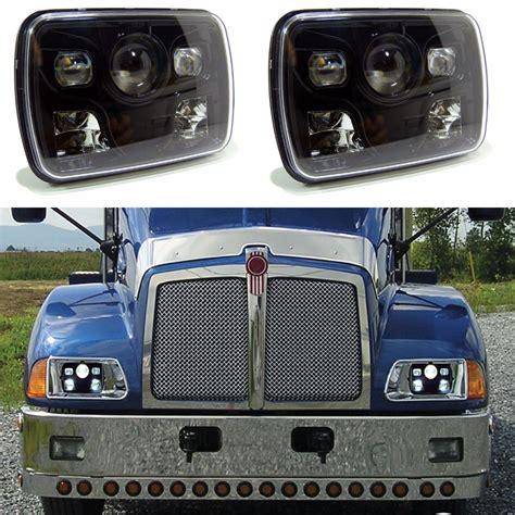 Led Headlight 5x7 Jeep Xj Country Wrangler Yj Taft Toyota 2x New Square 7x6 Quot Led Headlights H4 Light For Jeep