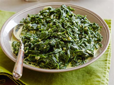 ina garten spinach creamed spinach recipe tyler florence food network