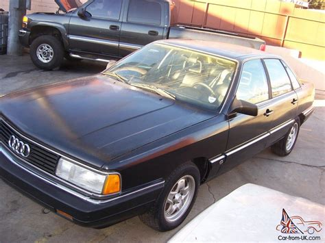 1987 audi 5000cs turbo quattro five speed manual black black rare
