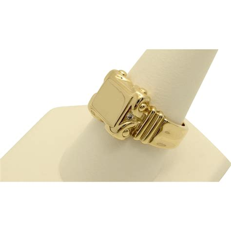 vintage 10k yellow gold signet ring with from