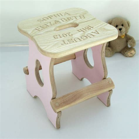 Stools Baby by Engraved New Baby Stool By The Woodsmith