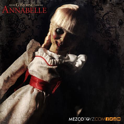 annabelle doll the conjuring annabelle scaled prop replica mezco toyz