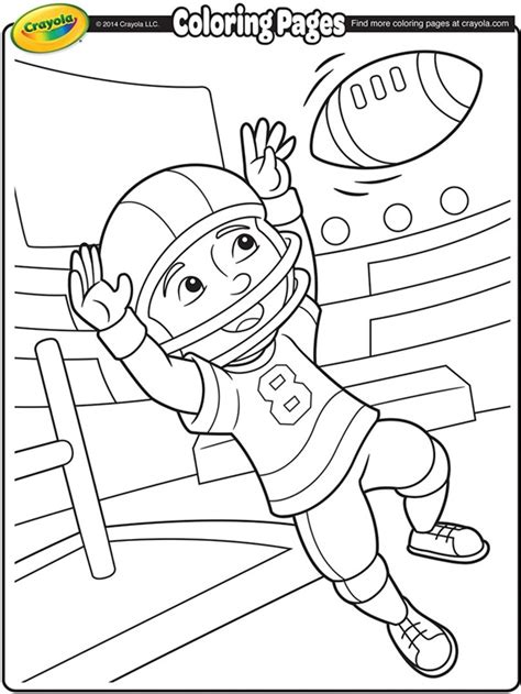 crayola coloring pages sports football wide receiver crayola com au